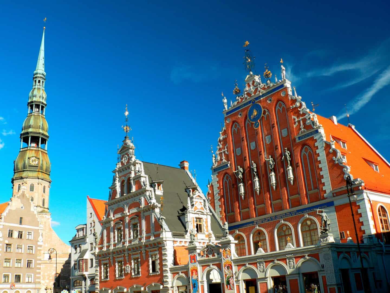 città di Riga lettonia piazza del municipio
