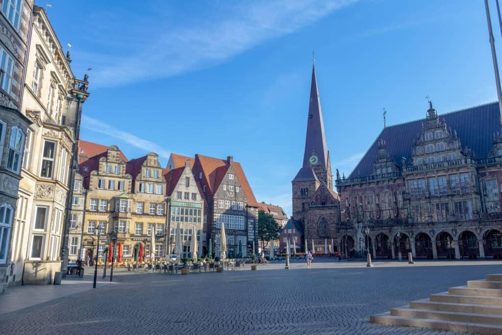 piazza cebtro storico di Brema germania