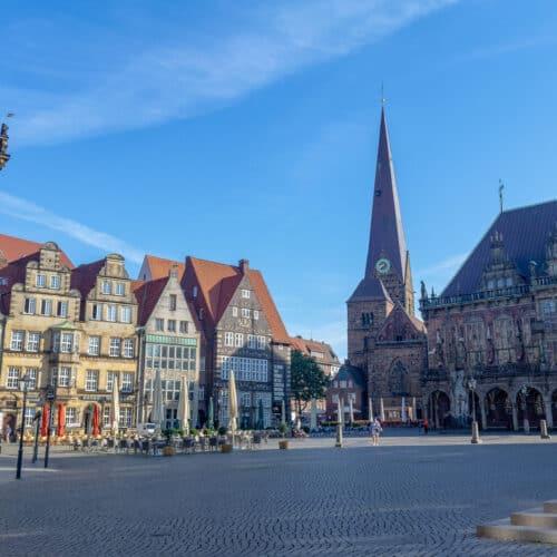 piazza centro storico di Brema germania