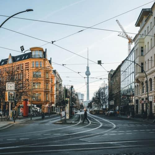 strada città di berlino