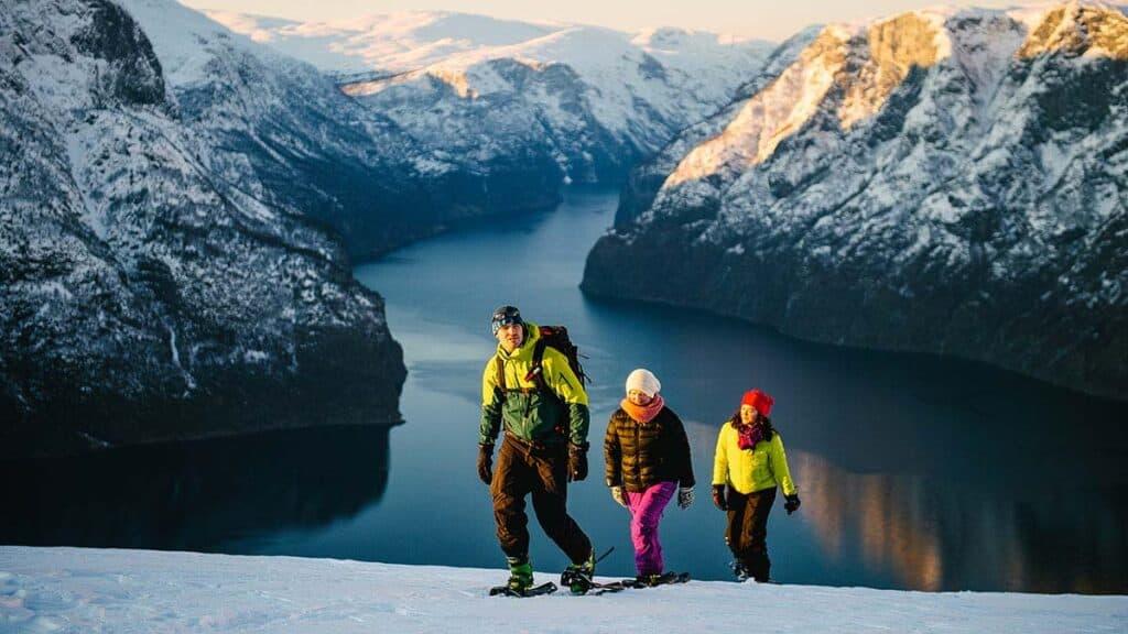 ciaspolata sulle nevi norvegesi