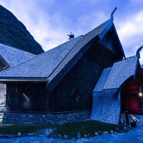 villaggio innevato in lapponia