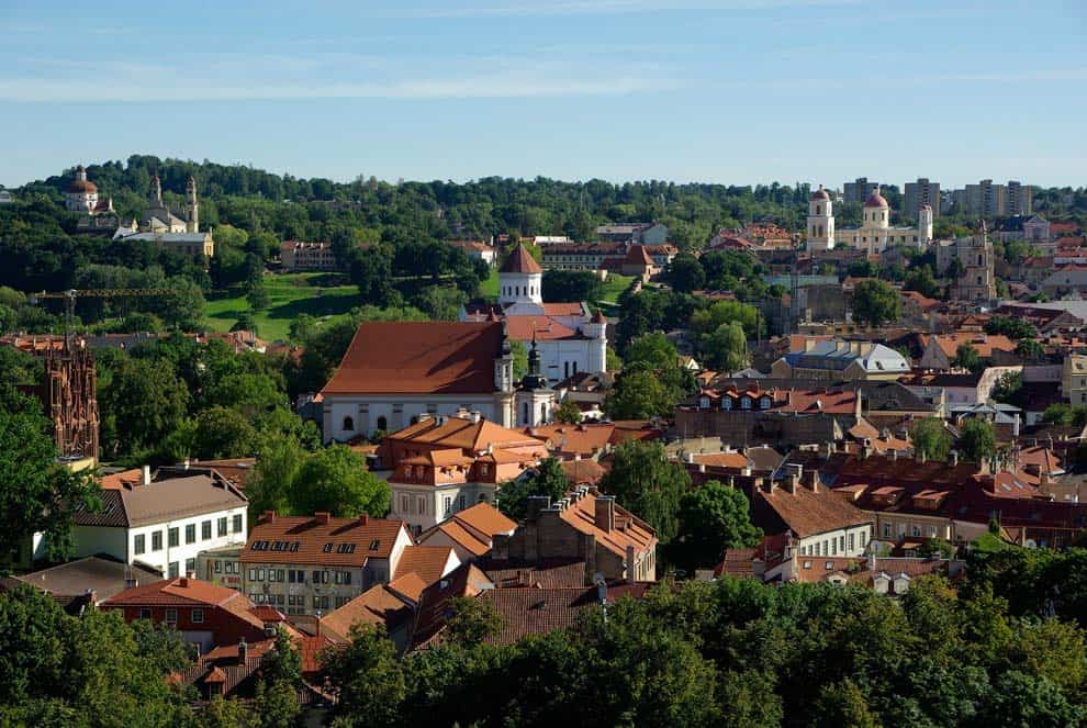 città di vilnius in lituania